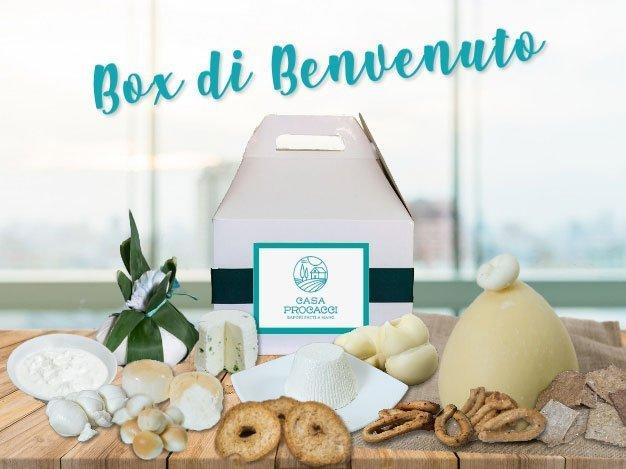 Box di Benvenuto contenente tutte le specialità pugliesi