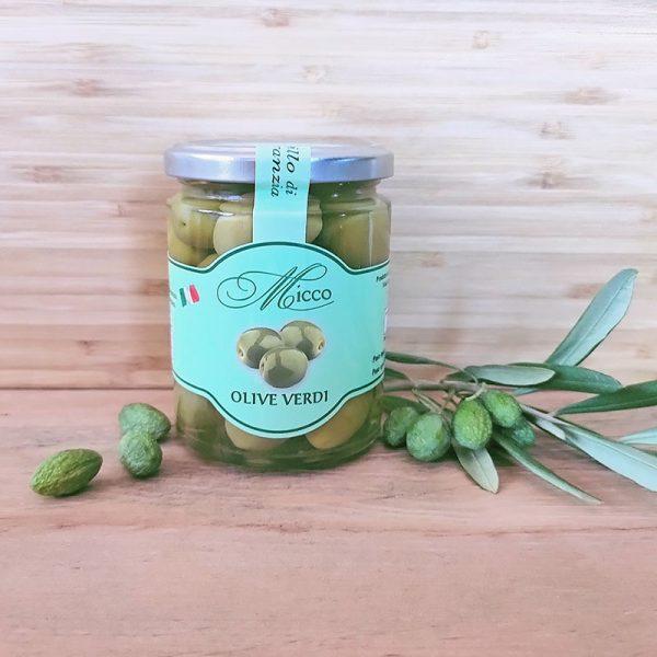 Olive verdi pugliesi conservate in salamoia